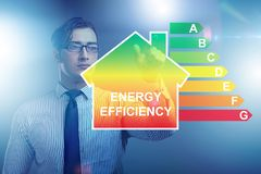 The businessman in energy efficiency concept royalty free stock photo