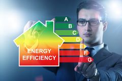 The businessman in energy efficiency concept royalty free stock photography