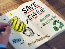 Businessman with Energy and Environmental Concept Stock Image