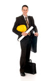 Businessman engineer stock image