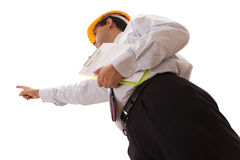 Businessman engineer Royalty Free Stock Photos