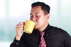 Businessman Enjoy Coffee royalty free stock photo