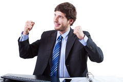 Businessman enjoy for success Royalty Free Stock Images