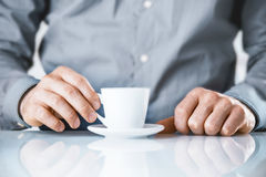 Businessman enjoying a coffee break Royalty Free Stock Images