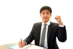 Businessman enjoying success Stock Image