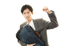 Businessman enjoying success Royalty Free Stock Photography
