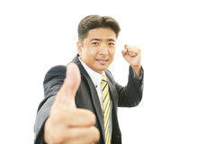 Businessman enjoying success Stock Photography