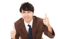 Businessman enjoying success Stock Photography