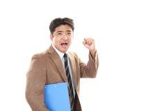 Businessman enjoying success Royalty Free Stock Photos