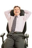 Businessman Enjoys Ergonomic Chair Royalty Free Stock Photos