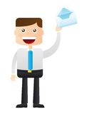 Businessman with envelope Stock Image