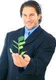 businessman environmental friendly στοκ εικόνες με δικαίωμα ελεύθερης χρήσης