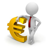 Businessman and euro currency symbol Royalty Free Stock Image