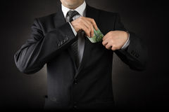 Businessman and Euro Royalty Free Stock Image