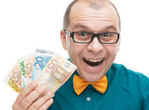 Businessman with euro money Stock Image