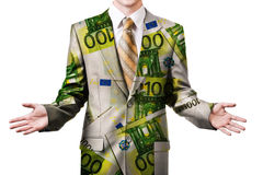 Businessman in euro suit Stock Photography