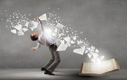 Businessman evades ideas Royalty Free Stock Image
