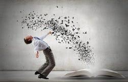 Businessman evades ideas Stock Photography