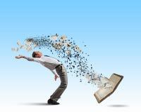 Businessman evades ideas Stock Images