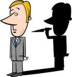 Businessman and evil shadow Stock Photos