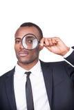 Businessman examining you. Stock Image