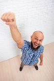 Businessman Excited Hold Fist Hand Up Gesture Royalty Free Stock Image