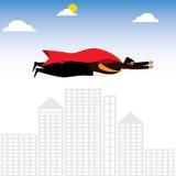 Businessman or executive as a superhero or superman - vector gra Stock Images