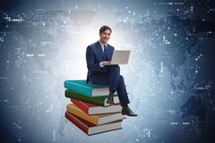 The businessman in executive distance learning concept. Businessman in executive distance learning concept Royalty Free Stock Image