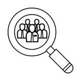 Businessman executive pictogram Stock Photos