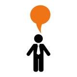 Businessman executive pictogram. Icon  illustration graphic design Stock Photography