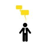 Businessman executive pictogram. Icon  illustration graphic design Royalty Free Stock Image