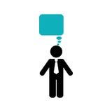 Businessman executive pictogram. Icon  illustration graphic design Royalty Free Stock Photography