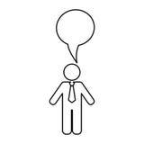 Businessman executive pictogram. Icon  illustration graphic design Stock Images