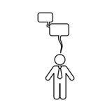 Businessman executive pictogram. Icon  illustration graphic design Stock Image