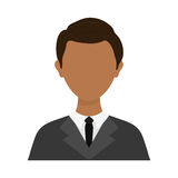 Businessman executive Profile. Icon  illustration graphic design Royalty Free Stock Photos