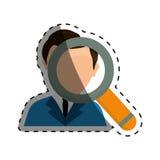 Businessman executive Profile. Icon  illustration graphic design Royalty Free Stock Photography