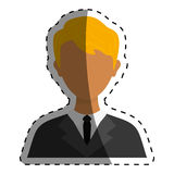Businessman executive Profile. Icon  illustration graphic design Stock Images