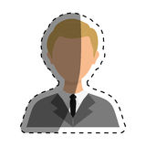 Businessman executive Profile. Icon  illustration graphic design Stock Photo