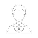 Businessman executive Profile Royalty Free Stock Photos