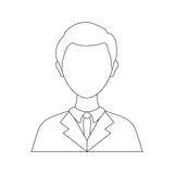 Businessman executive Profile. Icon  illustration graphic design Stock Photos