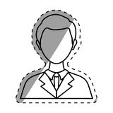 Businessman executive Profile. Icon  illustration graphic design Stock Image