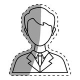 Businessman executive Profile. Icon  illustration graphic design Royalty Free Stock Photo