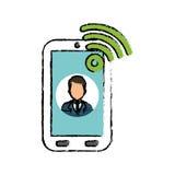 Businessman executive profile Stock Image