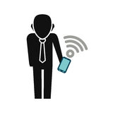 Businessman executive profile. Icon  illustration graphic design Royalty Free Stock Images