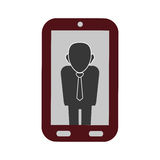 Businessman executive profile. Icon  illustration graphic design Royalty Free Stock Images