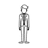 Businessman executive profile. Icon  illustration graphic design Royalty Free Stock Photography