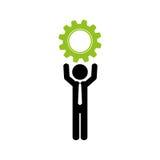Businessman executive profile. Icon  illustration graphic design Royalty Free Stock Image