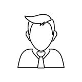 Businessman executive profile. Icon  illustration graphic design Stock Photo