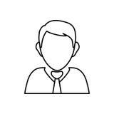 Businessman executive profile. Icon  illustration graphic design Stock Image