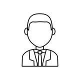 Businessman executive profile. Icon  illustration graphic design Royalty Free Stock Photo